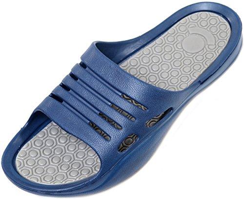 Beach Pool Navy Holiday Mens Flips On Lightweight Flip Summer Slip Shower Sandals CqxTXH0w