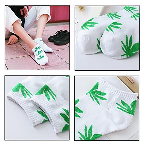 10 Pack Men Socks Athletic Business Cotton No Show Low Cut Socks (Maple leaf)