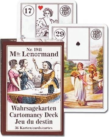 Amazon.com: Mlle Lenormand cartomancie Baraja de 36 cartas ...