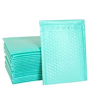 Amazon.com: ucgou # 0 6 x 10 verde azulado Poly sobres de ...