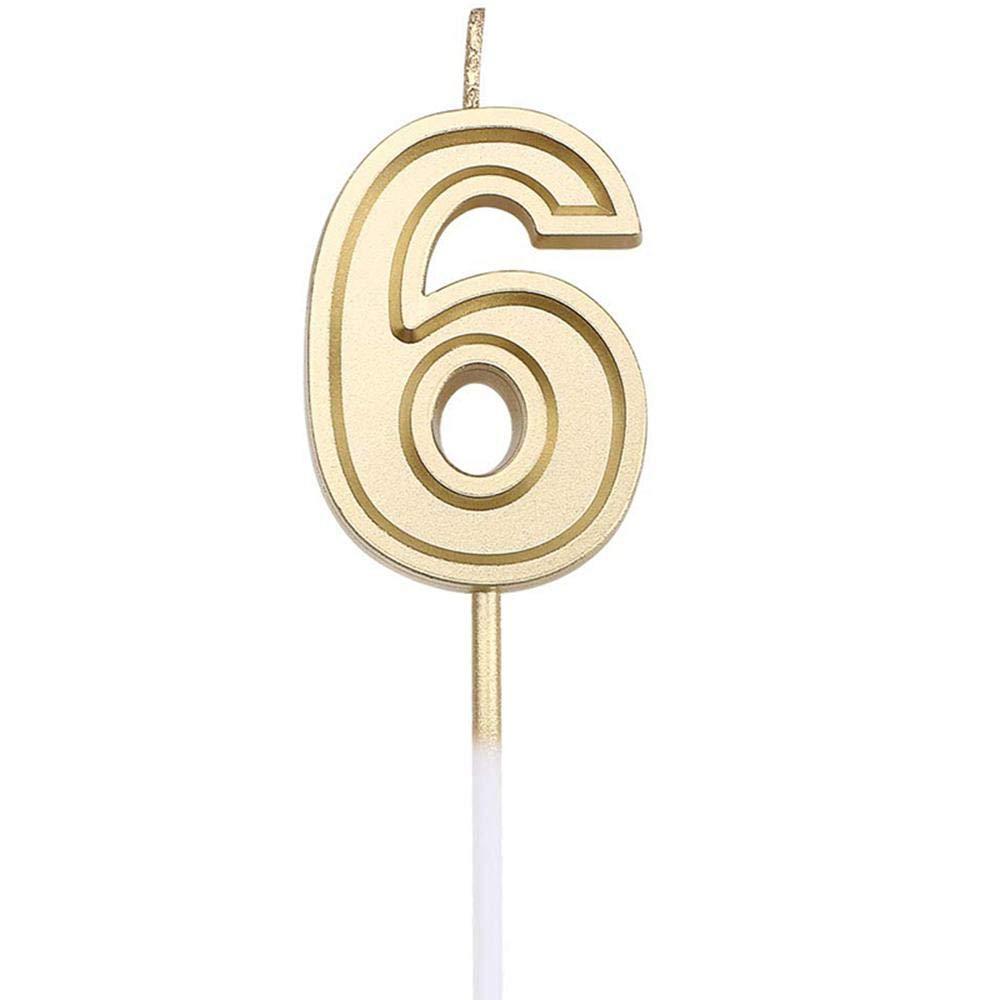 FOONEE Números De Velas De Cumpleaños, Pastel De Velas De ...