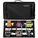 Luvay Guitar Pedal Board - Extra Large (22'' x 12.6'') with Bag, Aluminum Alloy 7LB Pedalboard