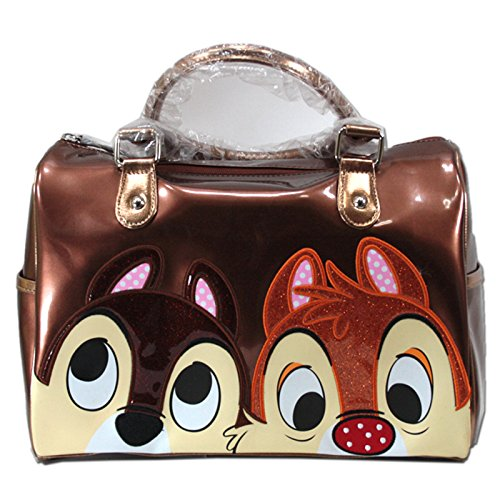 Cip & Ciop - Chip And Dale Borsa Bauletto Grande Marrone Walt Disney