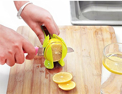 Purchase 1 Piece Tomato Slicer Plastic Fruits Cutter Tool Perfect Slicer Tomato Potato Onion Shreadders Slicer Lemon Cutting Holder save