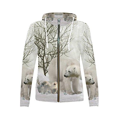Full Zip Print Sweatshirt - 1