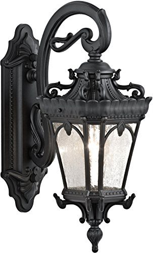 Kichler 9356BKT Tournai Outdoor Wall 1-Light, Textured Black For Sale
