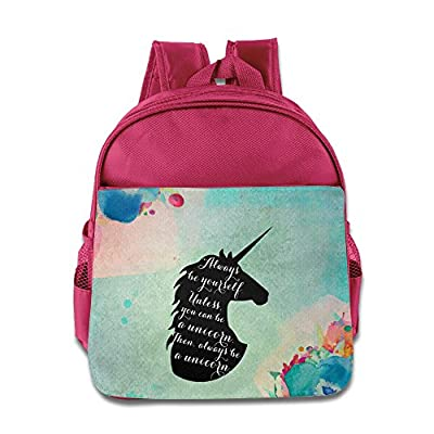 BERTHA Always Be A Unicorn Pattern Backpack For Kids In Nursery Pink