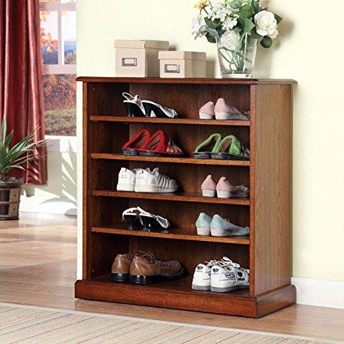 Dotta Classic Style Oak Finish Shoe Cabinet