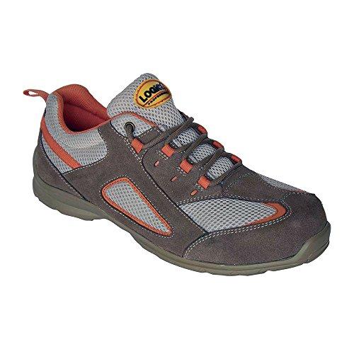 Logica Extasy Zapato Seguridad 430gr baja Beige Ante transpirable ultra ligera suela Suela DPI trabajo taller VarioPlus obra industrial