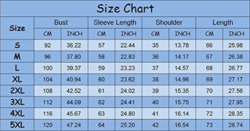 Mujeres de Cuello en V Manga Larga Color Solido Tops Gasa Blusa Camisa Azul zafiro