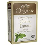 Swanson Stevia Extract - Certified Organic Calorie-Free Sweetener 75 Packets