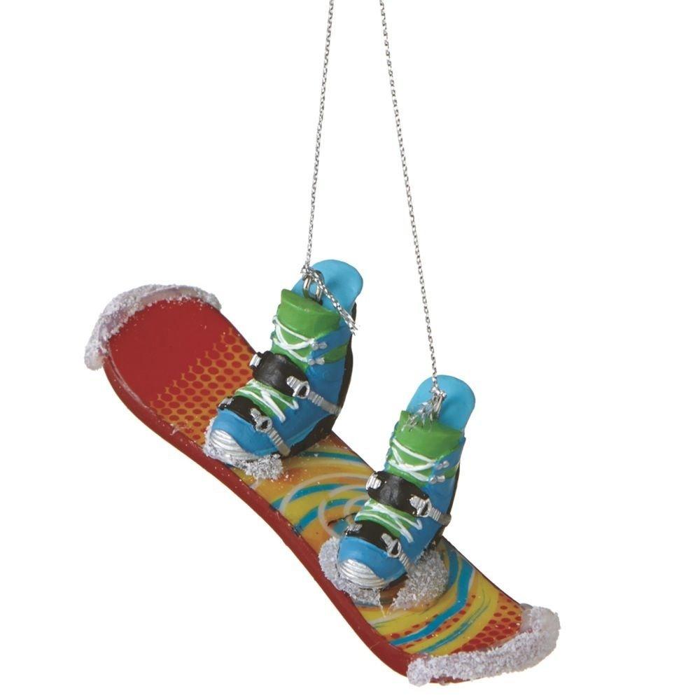 Glitter Snowboard Ornament