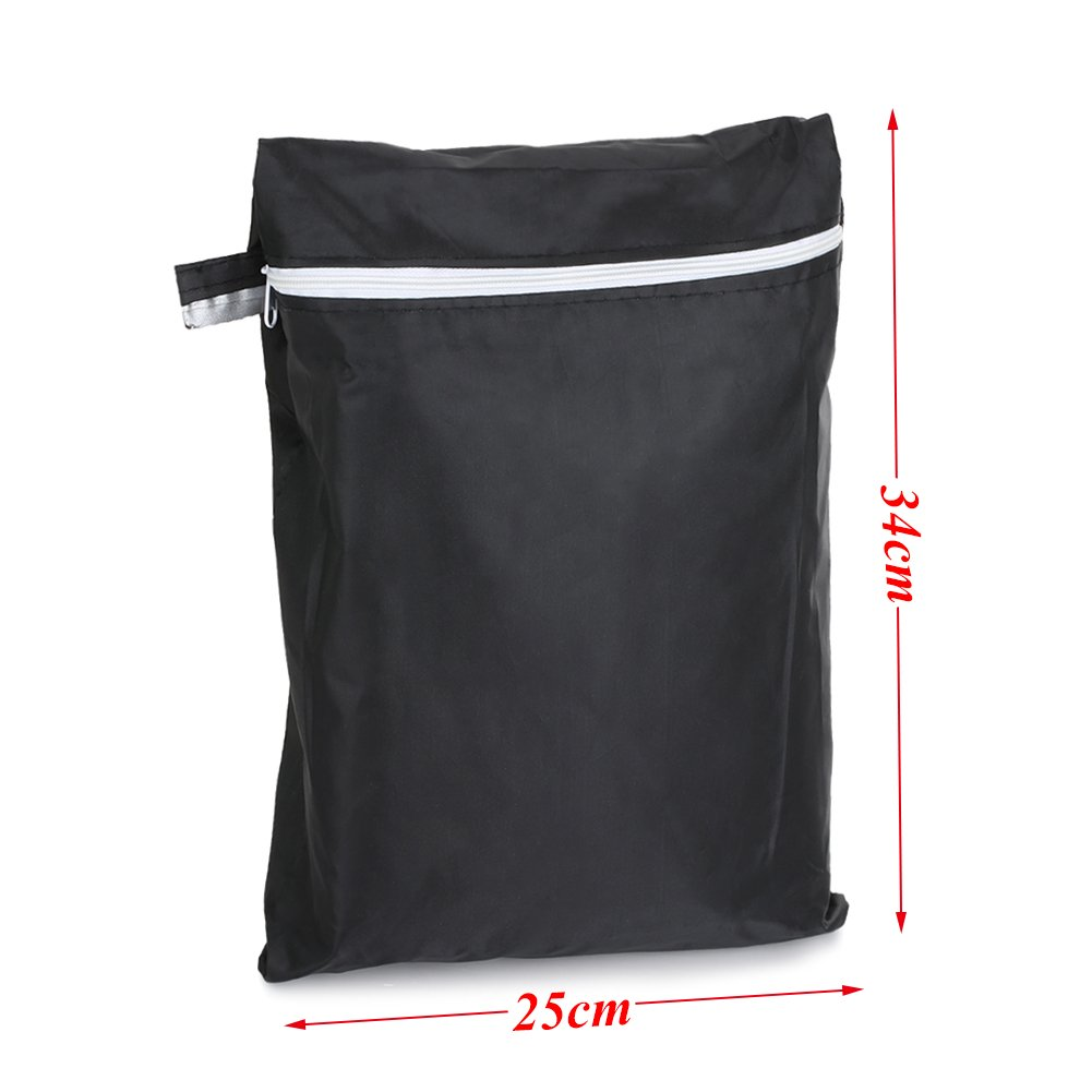 LITTLEGRASS BBQ Grill Cover 74x24x46'' Outdoor Patio Garden Gas Barbecue Smoker Cover Waterproof UV Resistant with Elastic Strap and Storage Bag for Weber, Holland, JennAir, Brinkmann and Char Broil by LITTLEGRASS (Image #2)