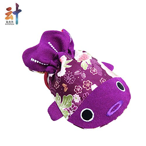 ✨ BAR Charming ✨ Japanese Chirimen & Kimono Print Fabric Goldfish Drawstring Pouch Coin Purse Cosmetic Jewelry Key Bag Valentine's Day for her (Small, (Dice Print)