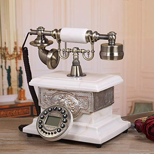 Speakerphone 2 Line Hotel (19-Yiruculture Home Wired Telephone Retro Phone with Rotary dial Phone European Resin Phone Home European Retro Phone Fashion Phone (Color : Normal Edition))