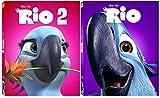 Rio & Rio 2 Blu Ray Movie Cartoons from the creators of Ice Age DVD Animated Set Exotic pet bird