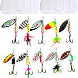 10pcs Fishing Lure Spinnerbait ,Bass Trout Salmon...
