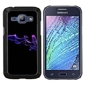 TECHCASE---Cubierta de la caja de protección para la piel dura ** Samsung Galaxy J1 J100 ** --Resumen de humo