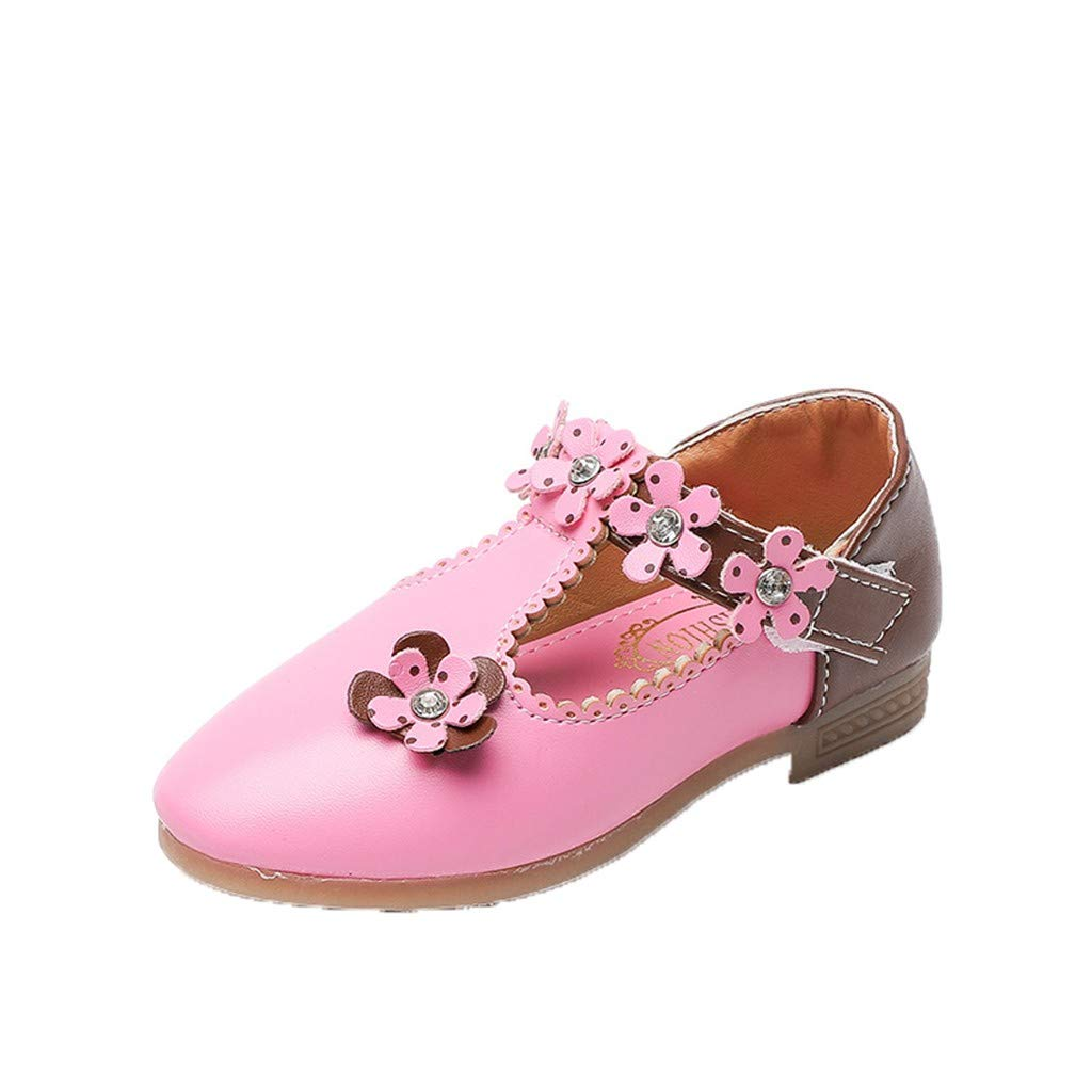 Little Kid//Big Kid Kstare Girls Glitter Sequins Princess Dress Party Leather Floral Casual Dance Shoes