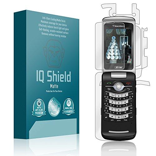 (IQ Shield Matte Full Coverage Anti-Glare Full Body Skin + Screen Protector for BlackBerry Pearl Flip 8220 Anti-Bubble Film)