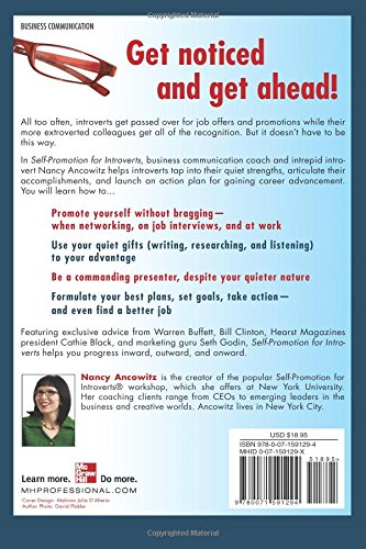 Self Promotion For Introverts: The Quiet Guide To Getting Ahead: Nancy  Ancowitz: 9780071591294: Amazon.com: Books