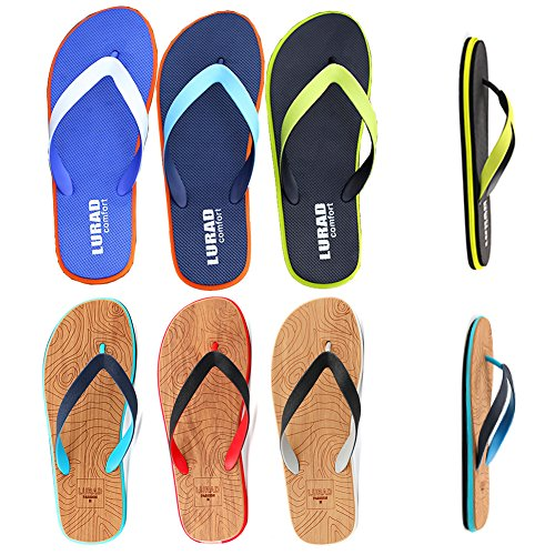 CIOR Men and Women Beach Flip Flops Lovers Holiday Slipper Flat Thong Shoes Fashion Comfortable Sandals