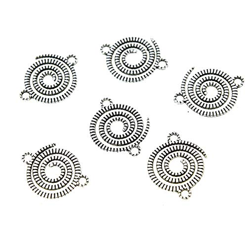 - Monrocco Round Swirl Spiral Spiral Charm Disc Charms for Jewelry Making DIY 21x17mm
