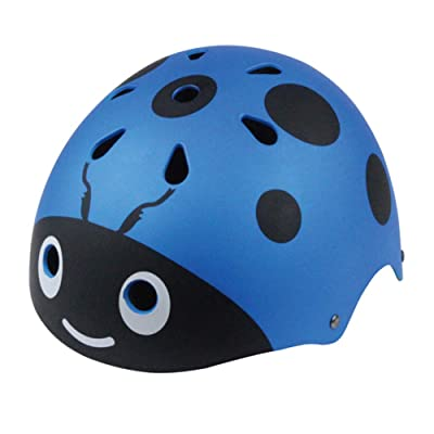 Children Riding Helmets Mountain Bike Safety Helmet 50-54cm Breathable 11 Holes-Blue : Sports & Outdoors