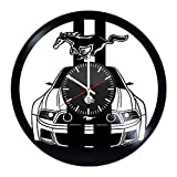 Cheap Ford Mustang Handmade Vinyl Record Wall Clock Fun gift Vintage Unique Home decor