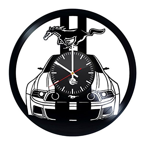 Ford Mustang Handmade Vinyl Record Wall Clock Fun gift Vintage Unique Home decor