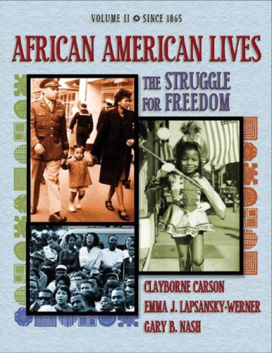 Books : African American Lives: The Struggle for Freedom, Volume II