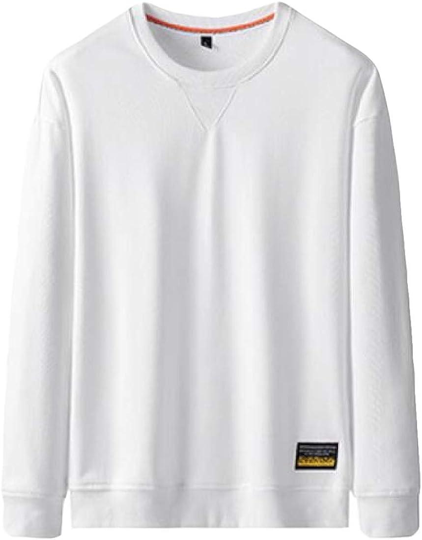 yibiyuan Mens Fitted Lightweight Sweatshirts Crewneck Casual Crew Neck Sweater Sweatshirt
