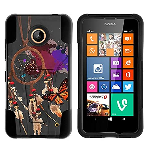 Nokia Lumia 635 Case, Nokia Lumia 630 Case, Durable Hybrid STRIKE Impact Kickstand Case with Art Pattern Designs for Nokia Lumia 635, 630 (AT&T, Sprint, T Mobile, Cricket, Virgin Mobile, Boost Mobile, MetroPCS) from MINITURTLE | Includes Clear Screen Protector and Stylus Pen - (Nokia Lumia 635 Cases For Guys)