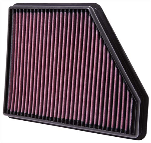 K&N engine air filter, washable and reusable:  2010-2015 Chevy Camaro, Camaro SS, Camaro ZL1 33-2434 ()
