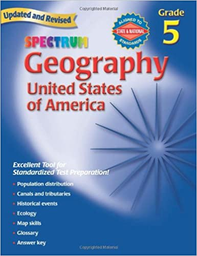 Amazon Com Geography Grade 5 The United States Of America Spectrum 9780769687254 Spectrum Books