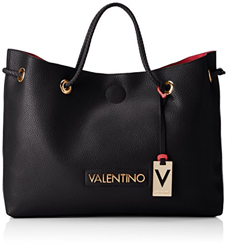 Mario Valentino Damen Corsair Tote, 12.5x30.5x40.0 cm Mehrfarbig (Nero/Rosso)