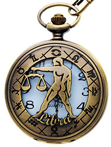 unisex-antique-case-vintage-brass-rib-chain-quartz-pocket-watch-zodiac-libra