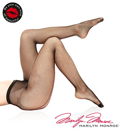 - Marilyn Monroe Women Fishnet Pantyhose Tights Stockings With Backseam size B Black Red