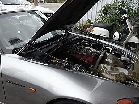fits for 1999-2005 Lexus IS200 IS300 GXE10 Black Carbon Fibre Autobahn88 Hood Lift Support