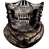 Obacle Half Face Mask for Hunting Fishing Motorcycle Running Outdoor Sport, Sun Dust Wind Protection Durable Lightweight Thin Breathable Tube Mask for Men Women Camo Skull US Flag Many Patterns