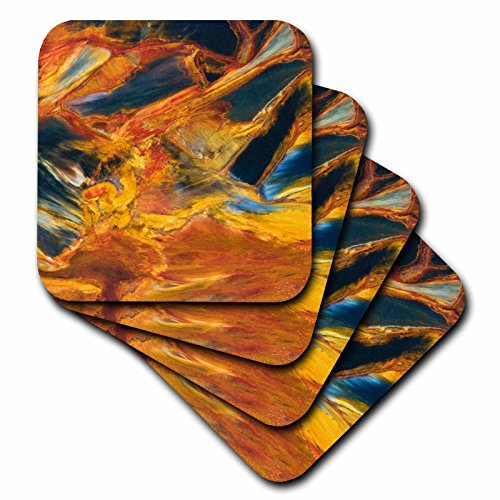 3dRose cst_83365_3 Pietersite Stone in NAmibia, Artistic Abstract NA01 BJA0186 Jaynes Gallery Ceramic Tile Coasters, Set of 4