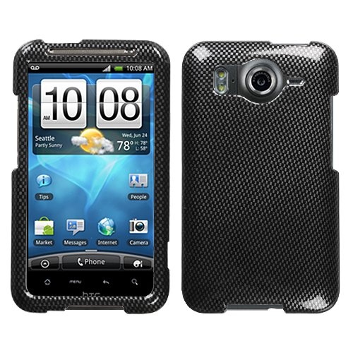 Carbon Fiber Phone Protector Faceplate Cover For HTC Inspire 4G (Protector Fiber Carbon Faceplate)