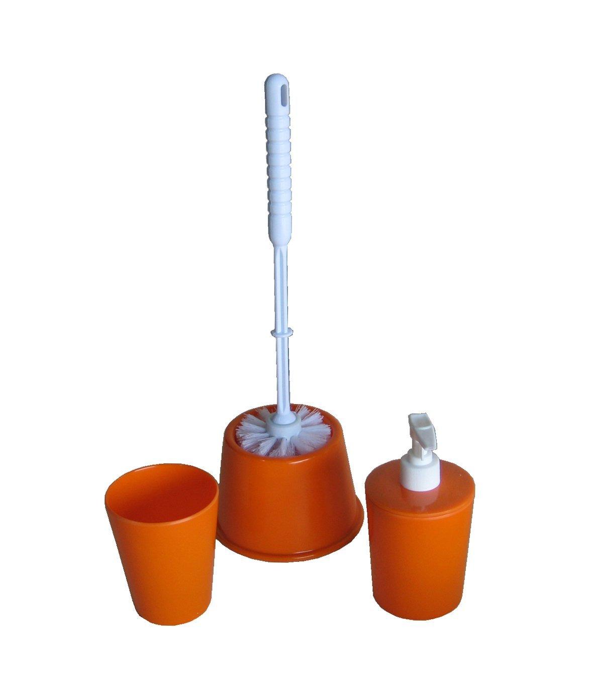 escobillero + dosificador + Vaso Porta cepillos Conjunto de Accesorios de ba/ño Color Azul