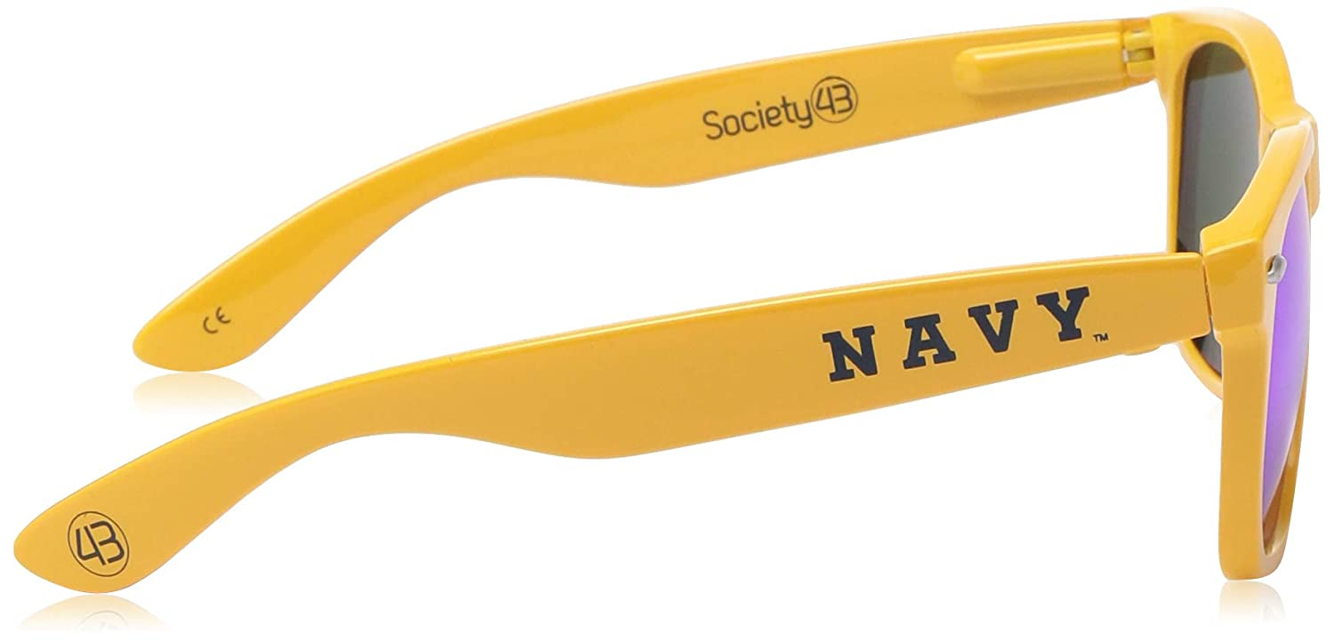 NCAA USNA Navy Gold Frame One Size Gold Blue Lens Sunglasses NAVY-2