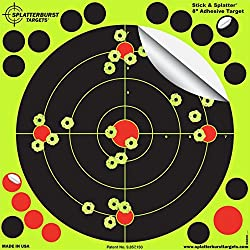 Splatterburst Targets 8 inch Stick & Splatter Reactive Self Adhesive Shooting Targets - Gun - Rifle - Pistol - AirSoft - BB Gun - Pellet Gun - Air Rifle