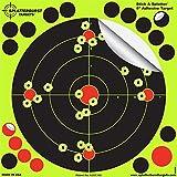 Splatterburst Targets 8 inch Stick & Splatter Reactive Self Adhesive Shooting Targets - Gun - Rifle - Pistol - Airsoft - BB Gun - Pellet Gun - Air Rifle