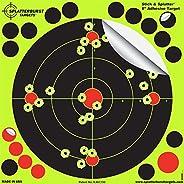 Splatterburst Targets - 8 inch Stick & Splatter Reactive Self Adhesive Shooting Targets - Gun - Rifle - Pi