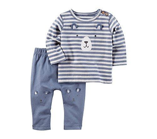 Carter's Baby Boys' 2 Piece Bear Top And Pants Set Newborn (2 Piece Set Carters Outfit)