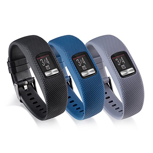 I-SMILE For Garmin Vivofit 4 Bands, Original Edition Silicone Replacement Wristband Strap Accessories with adjustable Buckle for Women Men