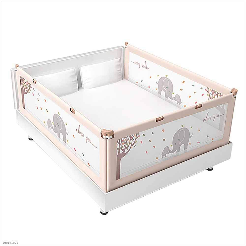 TX ZHAORUI Krippenschutz 1,8-2 Meter hoher Liftbettzaun für Baby-Antifall-Bett-Bett-Schutzfolie,150×200×200cm